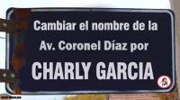 Para Cambiar La Av. Coronel Díaz (esquina Santa Fe) Por Charly Garcia...