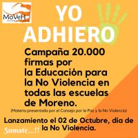 20.000 Firmas Para La Educación Por La No Violencia